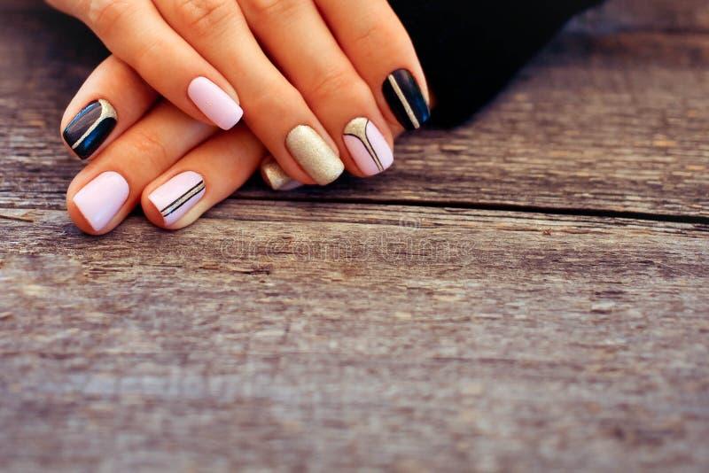 Natural nails, gel polish. stock image. Image of finger - 101684057