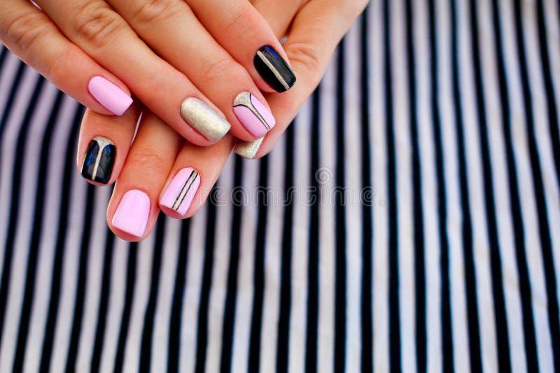 Natural nails, gel polish. stock image. Image of girl - 101684063
