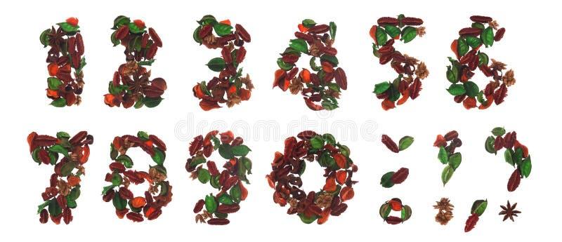 Natural numbers stock photos