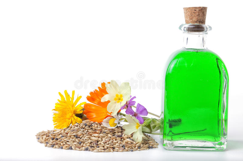 Natural ointments. stock image