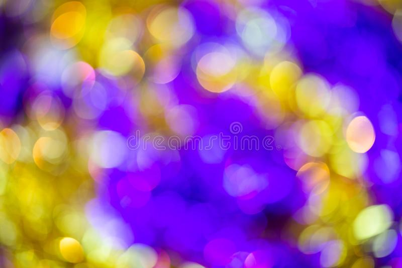 Natural optic violet-yellow lens blur abstract background.  stock photography