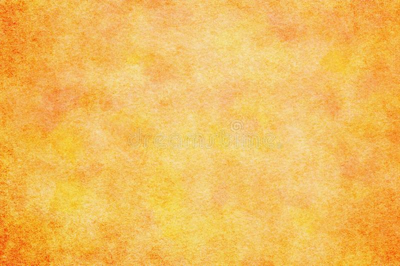 Natural orange colored watercolor paint texture or vintage canvas background. Natural orange colored watercolor paint texture or grunge vintage canvas background royalty free illustration