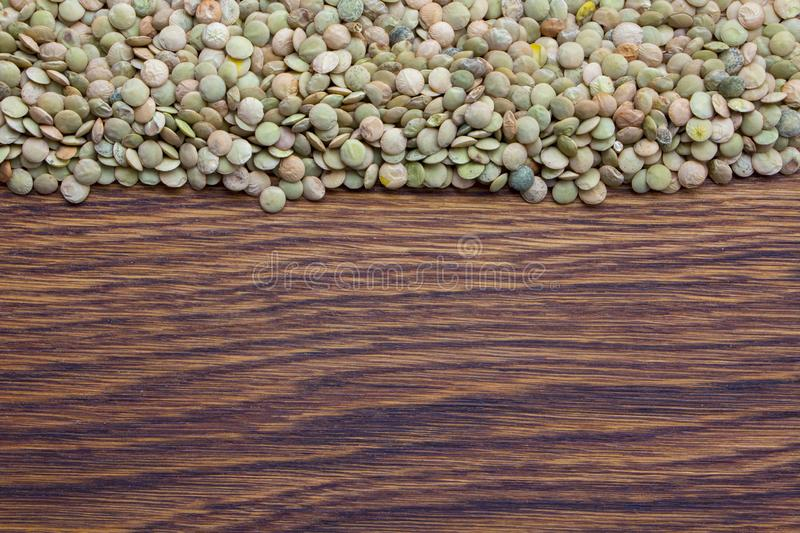 Natural organic green lentils for healthy food royalty free stock image