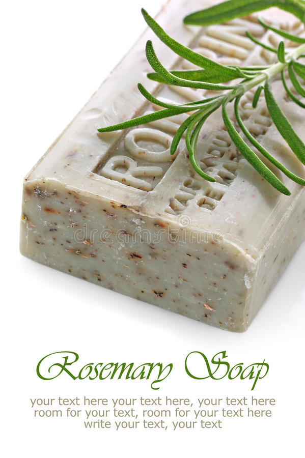 Natural organic herbal soap bar stock photography
