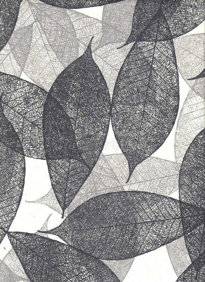 Natural paper with leaves, (hight resolution) royalty free stock photography