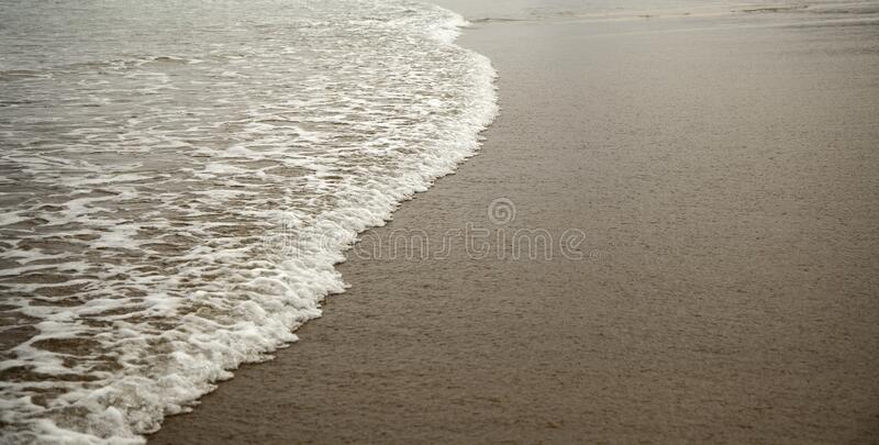 Natural paradise beach. With clear water, trips and vacations stock image