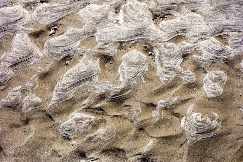 Natural Patterns in Sand stock photos