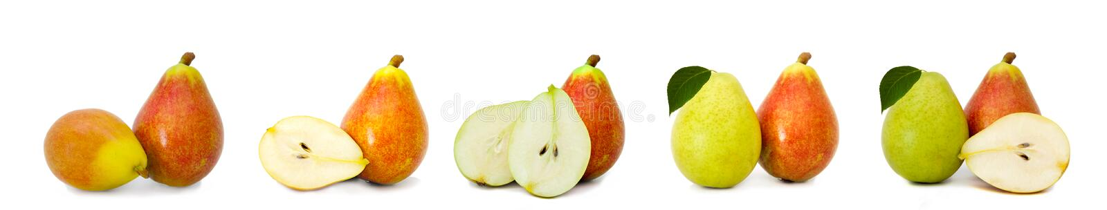 natural pears isolated stock photo