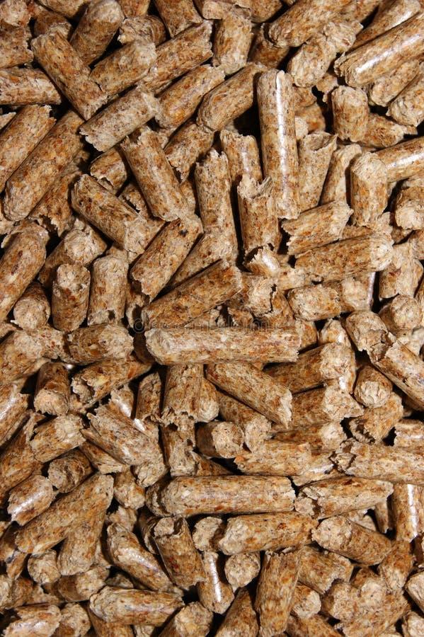 Natural pellet wood stock image