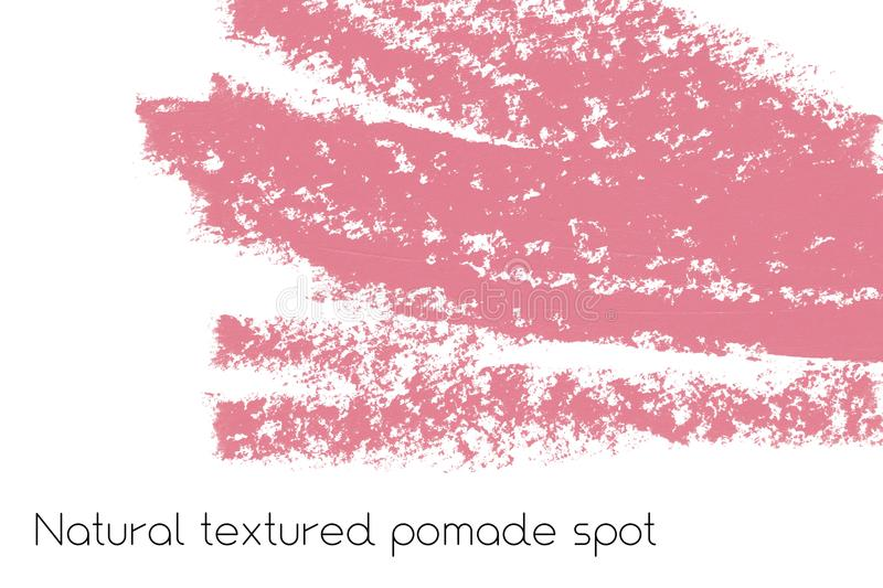 Natural pomade banner background with raw grunge texture of cosmetics. royalty free illustration