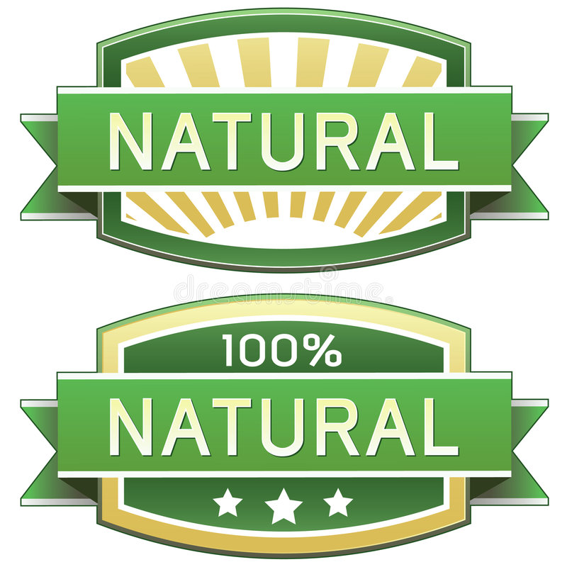 Free Natural Product Or Food Label Royalty Free Stock Photography - 8821107