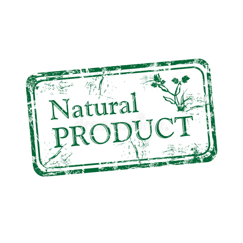 Natural product rubber stamp vector illustration