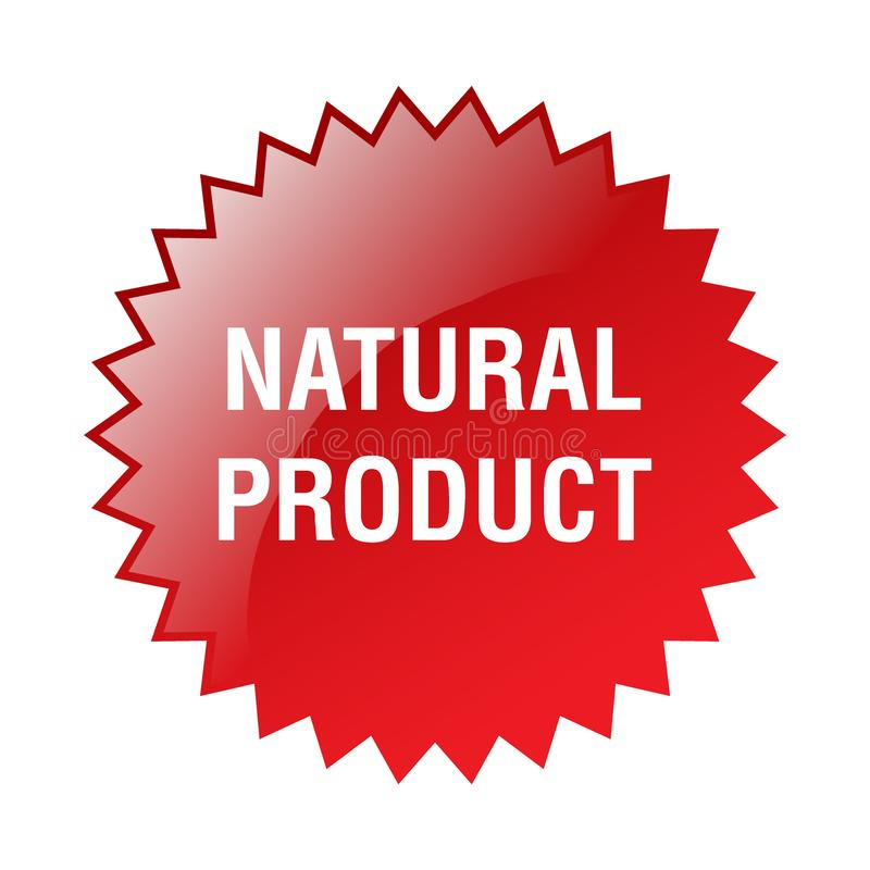 Natural product sticker. Editable vector illustration on isolated white background royalty free illustration