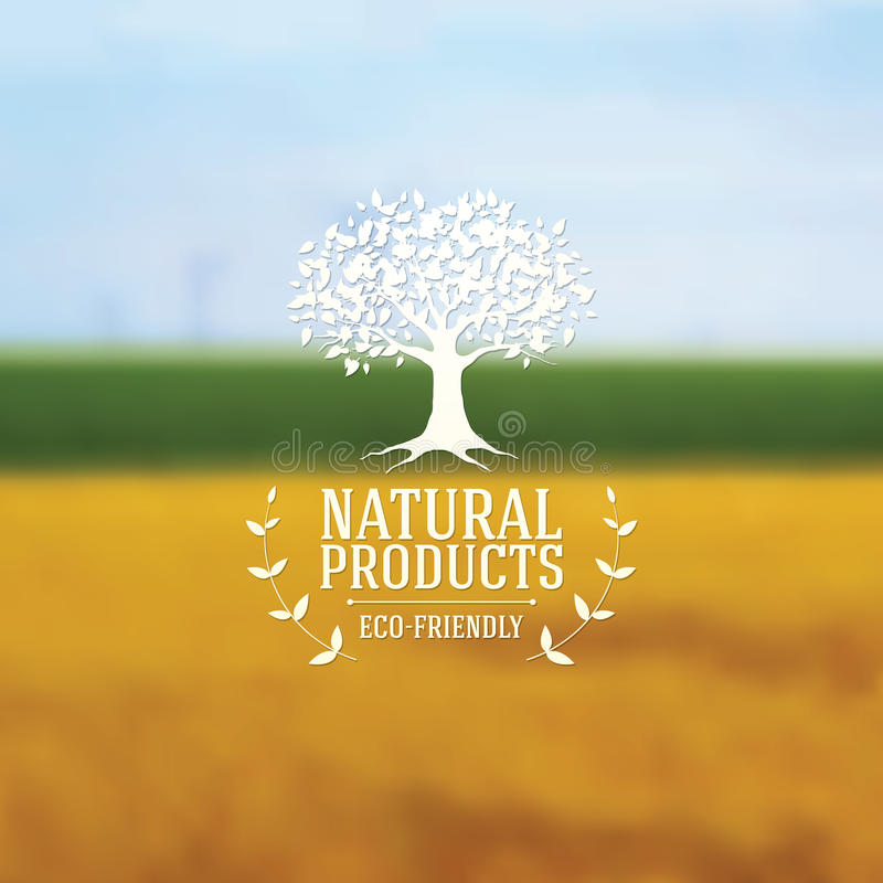 Download Natural Products Poster Stock Vector Illustration Of Tree
