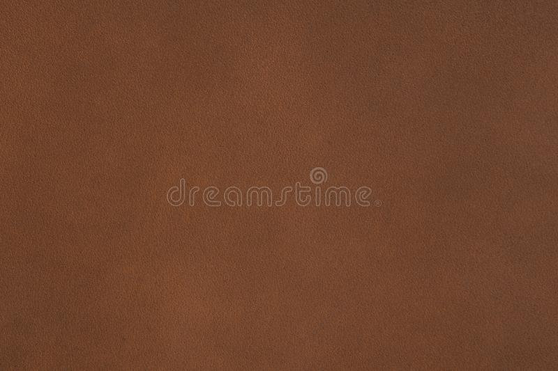 Natural qualitative brown leather texture on macro. High resolution photo stock photo