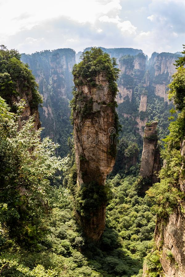 Free Natural Quartz Sandstone Pillar Hallelujah Mountain, 1,080 M Is Located In The Zhangjiajie Wulingyuan National Park, China Royalty Free Stock Photography - 139572187
