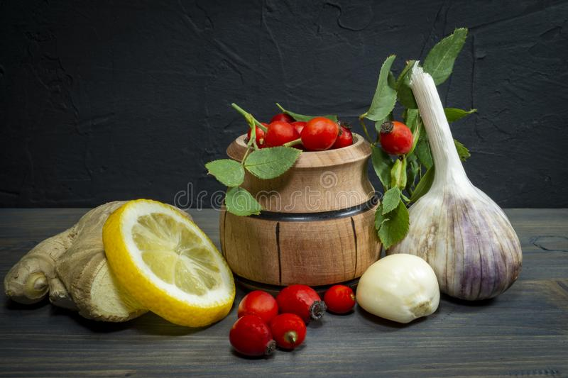 Natural remedies for cold and flu season royalty free stock photography