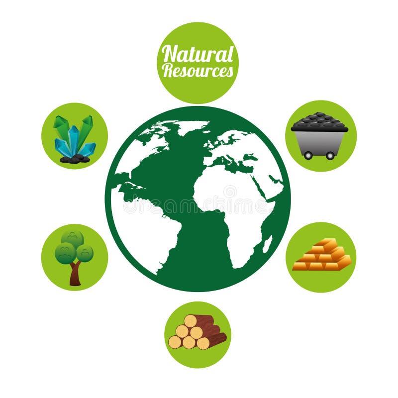 Natural Resources Clip Art : Natural resources design stock illustration