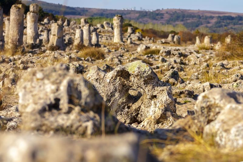 Natural rock formations with limestone composition royalty free stock image