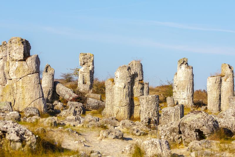 Natural rock formations with limestone composition royalty free stock photo