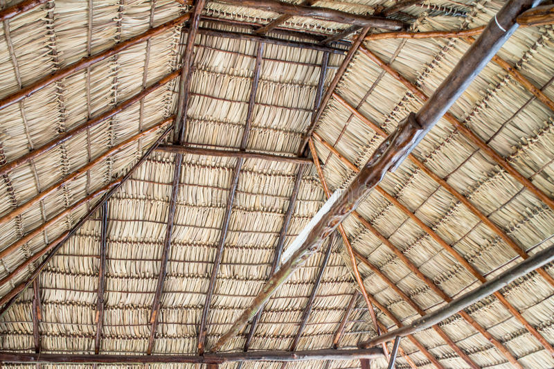 Natural roofing as a background. Natural roofing from nicaragua as background stock photography