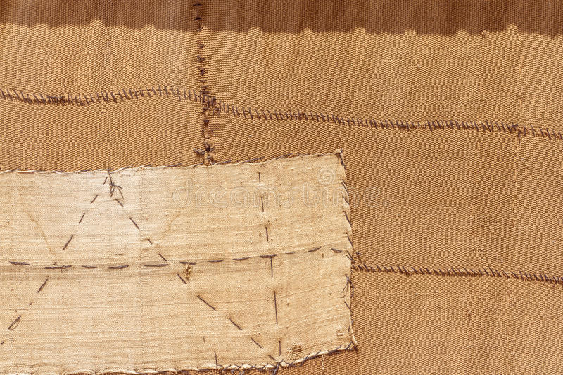 Natural sackcloth. Background of natural sackcloth of a bedouin tent in Jordan royalty free stock photo