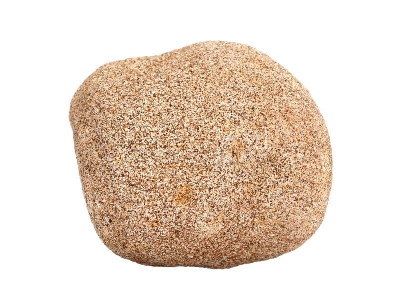 Natural sample of sandstone chertarenite – common sedimentary rock on white background stock images