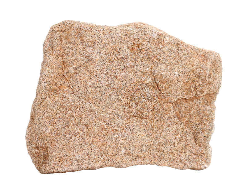 Natural sample of sandstone chertarenite – common sedimentary rock on white background stock photos