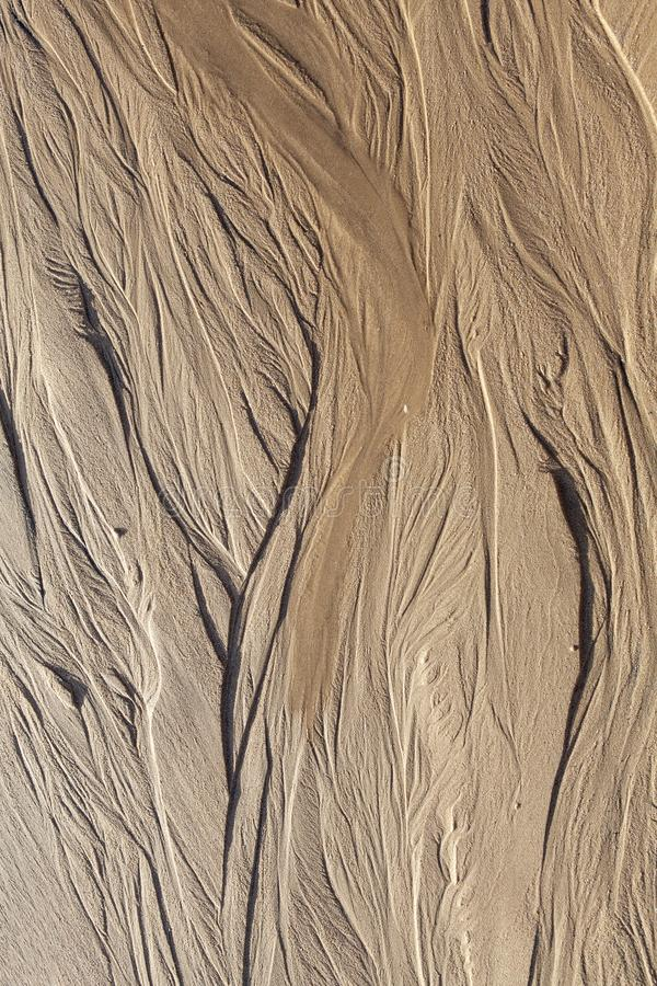Natural sand texture of the beach stock photo