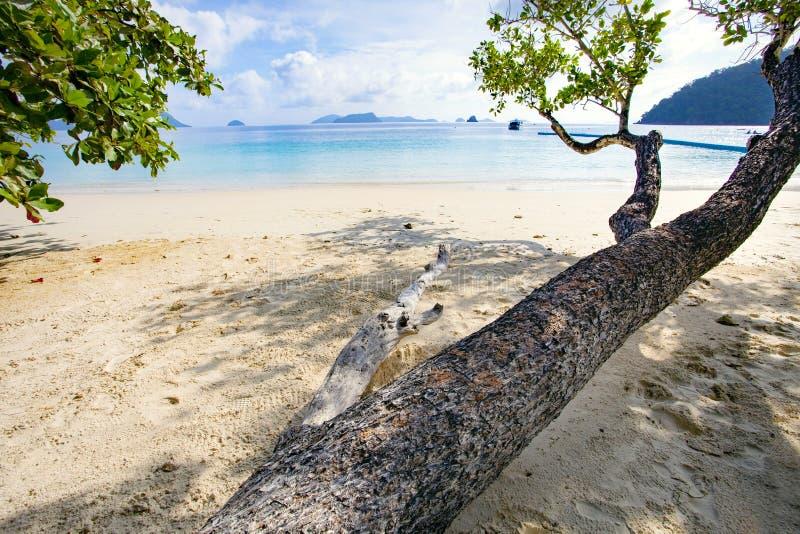 Natural sea beach of nyaung oo phee island andman sea border myanmar and southern of thailand stock photo