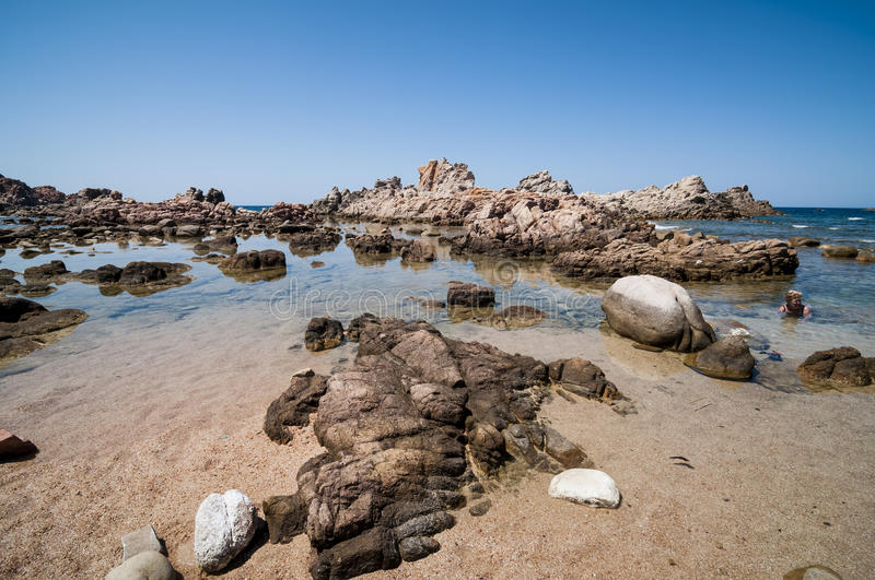 Natural sea landscape in Sardinia stock photography