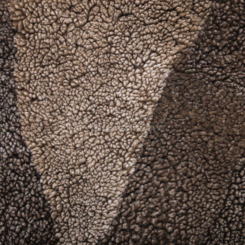 Natural sheep fur texture as background, Mouton (manufactured sh. Eepskin royalty free stock image