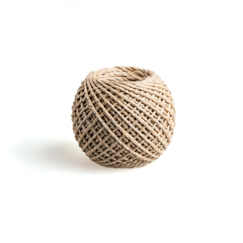 Natural skein of hemp rope royalty free stock photo