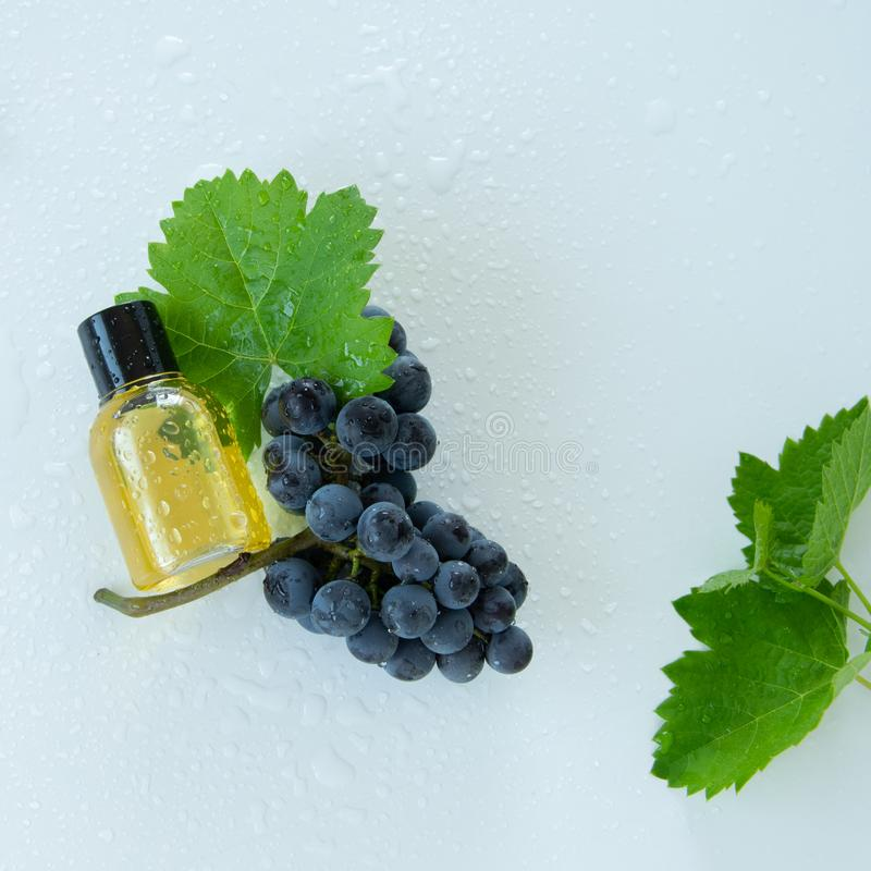 Natural skin care products with grape extracts . Healthy organic remedy. Superfood for the skin stock photos