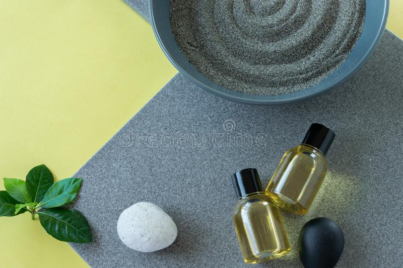 Natural skin care products, relaxing massage time . Healthy remedy. Natural skin care products,  relaxing massage time . Healthy remedy, wellness concepts stock photography