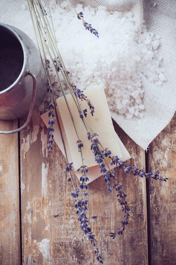 Download Natural Soap, Lavender, Salt, Cloth Stock Image - Image: 32505957