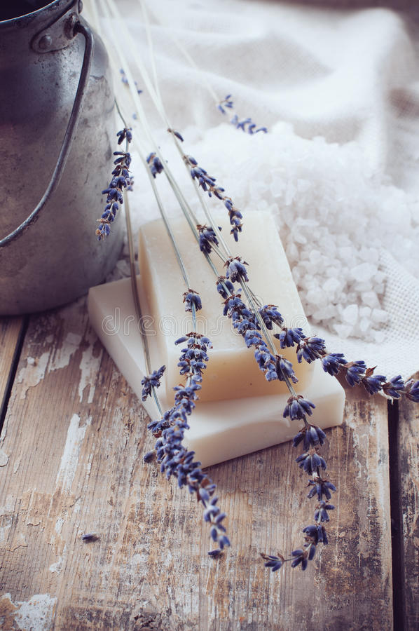 Download Natural Soap, Lavender, Salt, Cloth Stock Photo - Image: 32506070