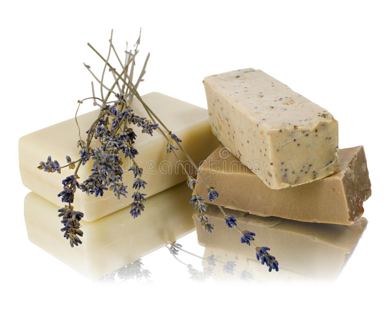Natural soaps stock image
