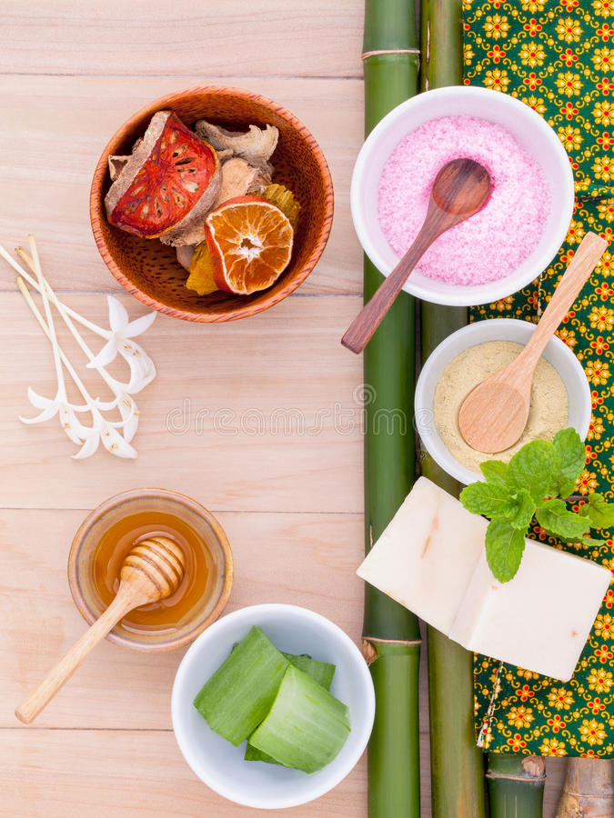 Natural Spa Ingredients . stock image