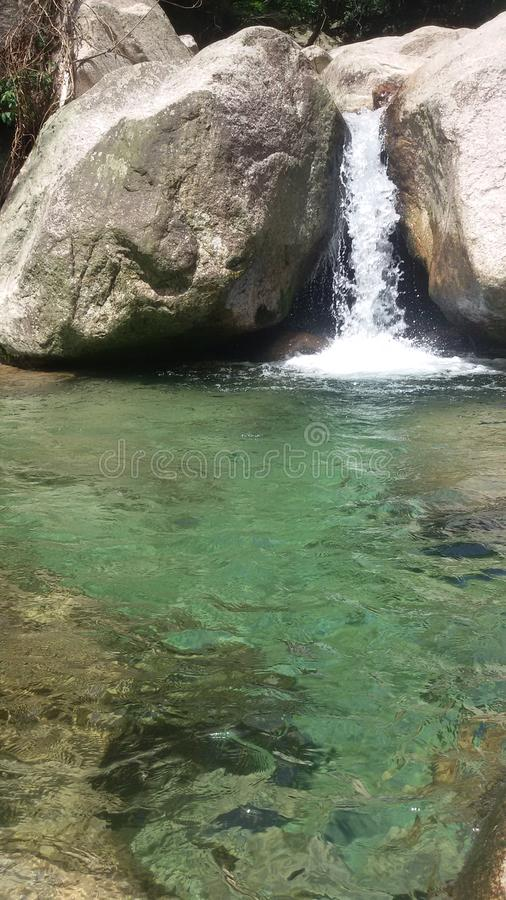 Natural spring water. In Huangshan mountain #China royalty free stock image