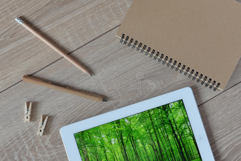 Natural stationery in the world today. stock photos