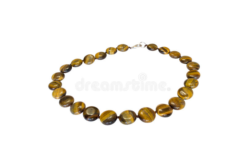 Natural stone beads stock images