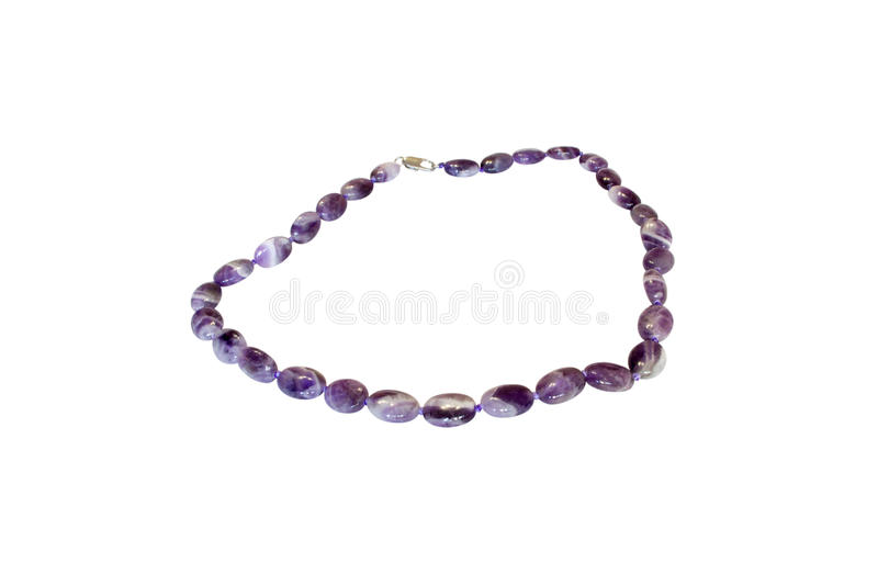 Natural stone beads royalty free stock photography