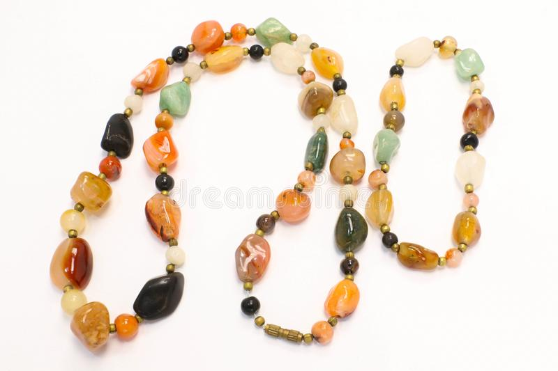 Natural Stone Jewellery Bracelet and Necklace Fashion Accessory Presentation. Natural Stone Jewellery with Bracelet and Necklace Beautiful Fashion Accessory stock photography