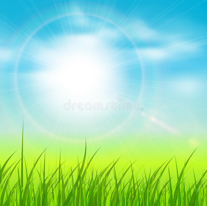 Natural sunny background stock illustration