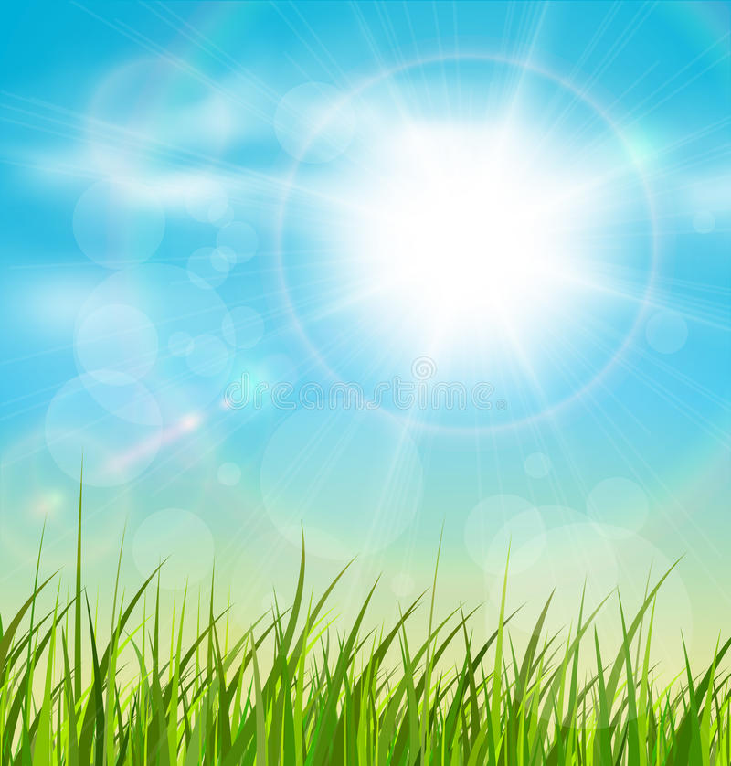Natural sunny background royalty free illustration