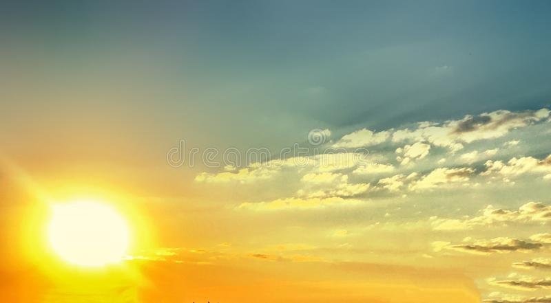 Natural sunset sky background for your design. Toned Dramatic Sk stock image