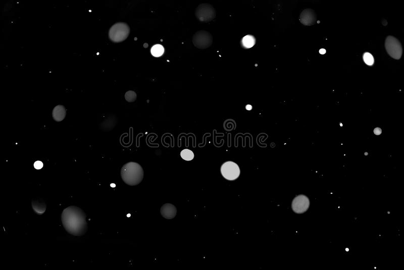 Natural texture of falling snow stock images
