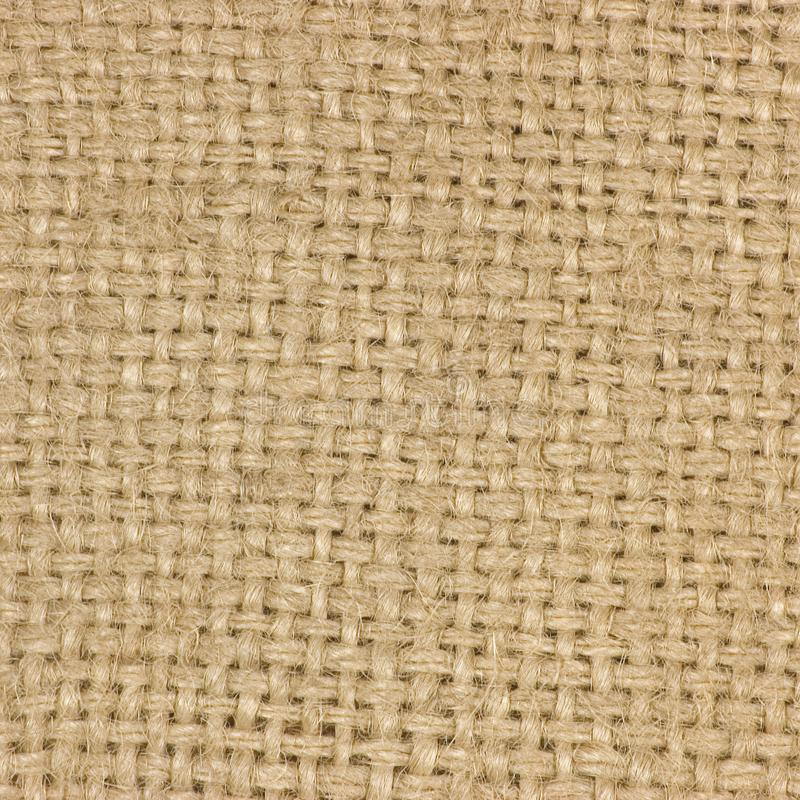 Natural textured burlap sackcloth hessian texture coffee sack, light country sacking canvas, macro background. Natural textured burlap sackcloth hessian texture royalty free stock photography