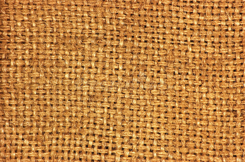 Natural textured burlap sackcloth hessian texture coffee sack pattern, dark country sacking canvas, macro background. Natural textured burlap sackcloth hessian royalty free stock photos